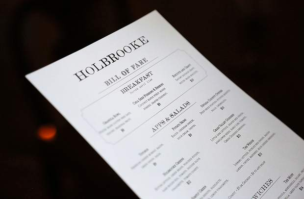 The Holbrooke's new menu featuring a western feel.