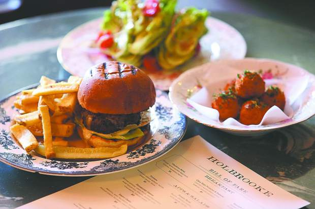The Holbrooke's revamped menu includes locally sourced ingredients for items such as the in house made fries, salad wedge, and Nevada County Oysters.