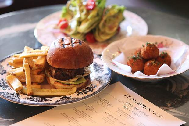 The Holbrooke's revamped menu includes locally sourced ingredients for items such as the in-house made fries, salad wedge, and Nevada County Oysters.