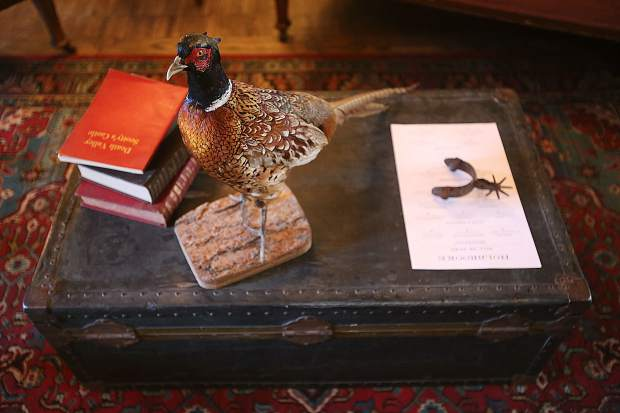 Taxidermied animals add a subtle touch to the western feel of the recently re-opened Holbrooke Hotel in downtown Grass Valley.