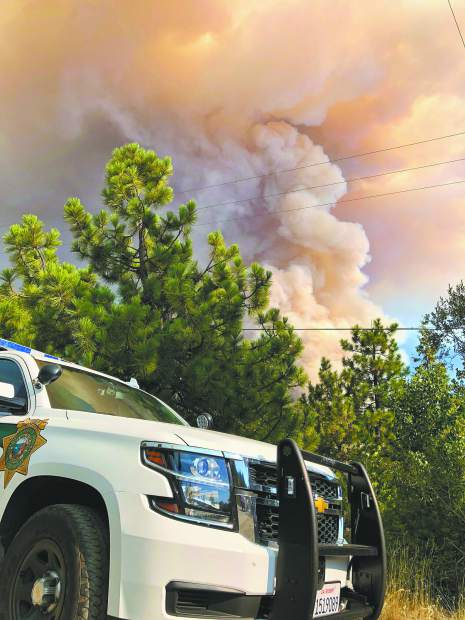 Smoke from the North Fire billows into the air after Monday afternoon's start near the North Fork Campground in the Tahoe National Forest near Emigrant Gap. At 4 p.m. the fire was reported at 15 acres, by 5 pm the fire was at 200 acres with a rapid rate of spread.