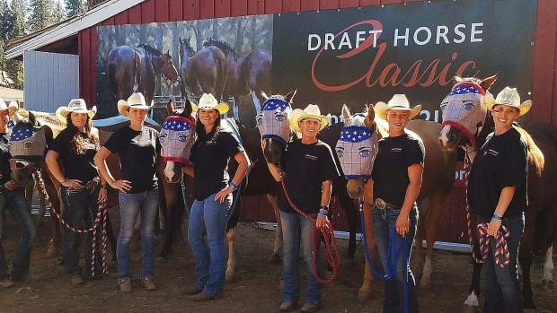 California cowgirls at the Draft Horse Classic at the Nevada County Fairgrounds.