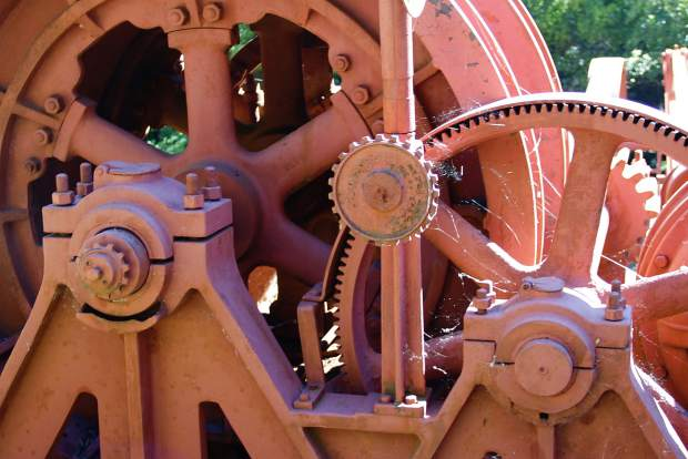 Old machinery at the North Star Mining Museum.