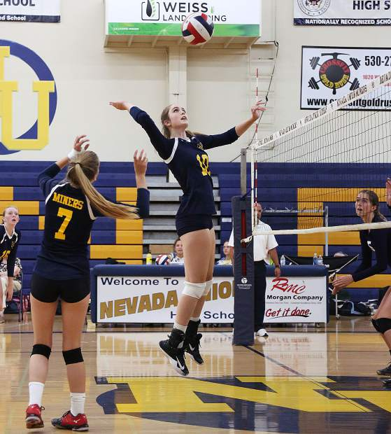 Nevada Union's girls volleyball team earned a five-set victory over Pleasant Valley Wednesday night at Albert Ali Gymnasium.