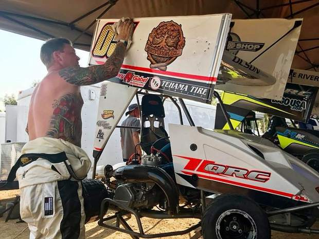 Jesse Olson races the Cosmic Roots Ranch Outlaw Kart, combining his racing past with his ranching present and future.