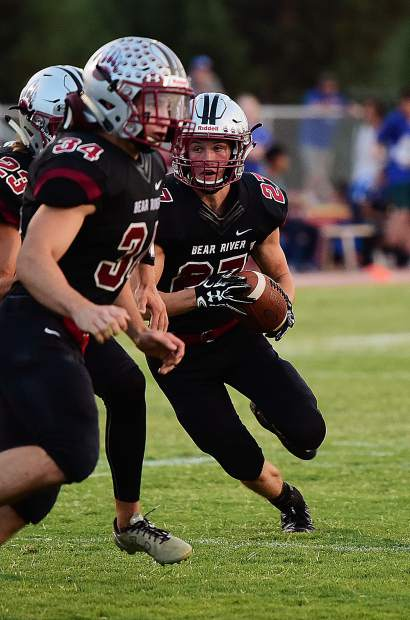 Bear River's Clayton Anderson rushed for 42 yards and a touchdown in the Bruins win over El Dorado last week. Anderson and the rest of the Bruins are on the road today to face Nevada Interscholastic Activities Association 2A state champions Pershing County.