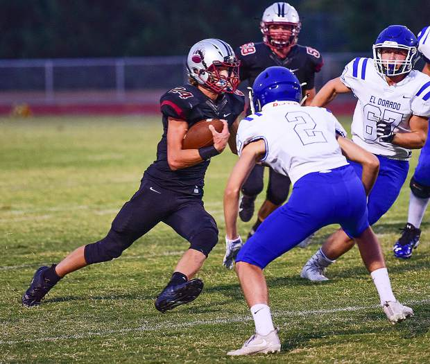 Bear River's Tre Maronic rushed for 95 yards and scored two touchdowns in the Bruins 54-7 victory over El Dorado Friday.