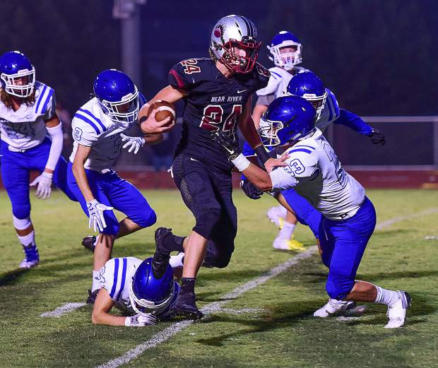 Bear River's Tre Maronic leads the Bruins in rushing this season with 602 yards. He also leads the team with 14 touchdowns (9 rushing, 4 receiving, 1 kickoff return).