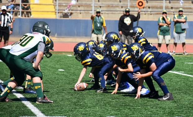 The Nevada Union 10U Jr. Miners rolled to a 40-0 victory over Placer Saturday at Hooper Stadium.