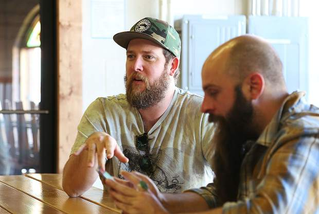 Roost partners Sean Cox (left) and Nathan Keys talk about the trials and tribulations involved with the years long process of opening their pub grub eatery.