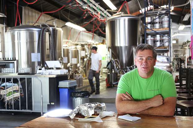 Matt Kinney, one of Grass Valley Brewing Company's four owners, recalls the humble beginnings of what has now become the bustling downtown Grass Valley brewery.
