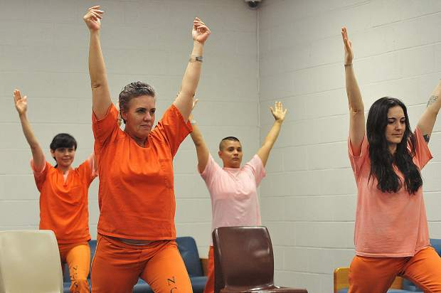 Nevada County jail inmates have been taking part in a meditative yoga clasees offered by Schuyler Bright and other instructors through the jail's Mindfulness Program.