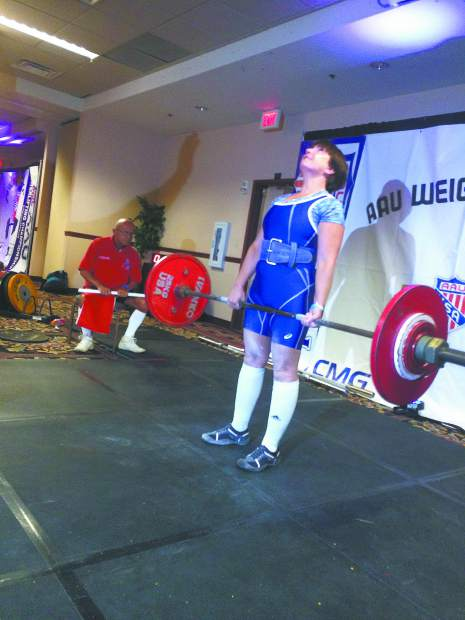POWER LIFTING: Grass Valley's Leslie Goddard lifts her way into the