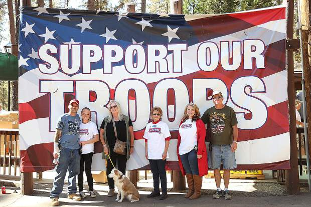 All Veterans Stand Down board members Will Buck (from left), Casey Burk, Laurie Stanton, Melise Munroe, Michelle O'Connor, and Scott Rosenkild all volunteer their time to make the free event for veterans happen.