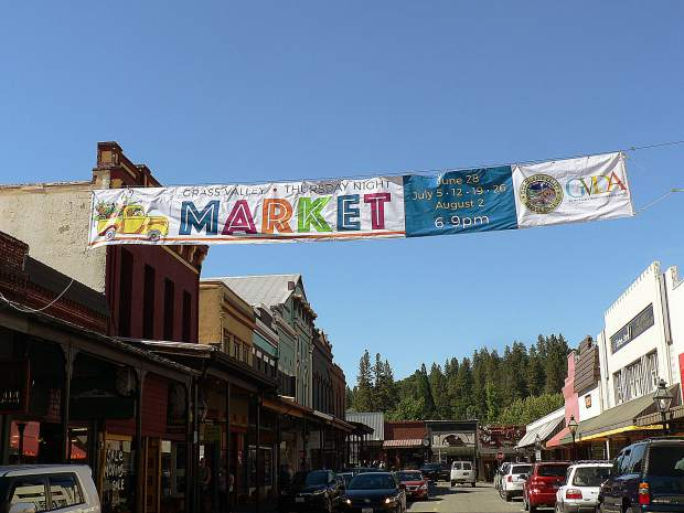 """We are so happy with the results and the work,"" Grass Valley Downtown Association Director Marni Marshall said of the Thursday Night Market banner."