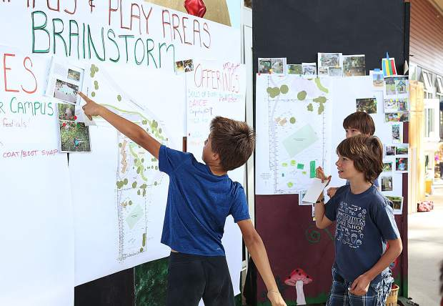 Yuba River Charter students get excited to be a part of the planning process for the future of their school during Thursday's Harvest Festival.