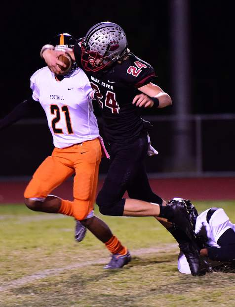 Bear River's Tre Maronic rushed for 233 yards and two touchdowns in the Bruins' victory over Foothill Friday night. Maronic also had an interception and a fumble recovery on defense.
