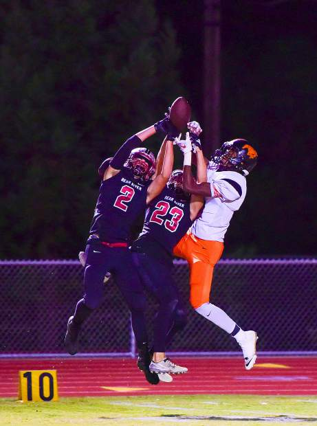 Bear River defensive backs Calder Kunde (23) and Colton Jenkins (2) were both named to the 2018 All-Pioneer Valley League First Team.