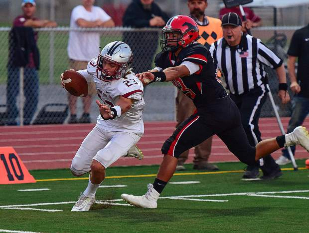 Bear River quarterback Calder Kunde has been strong all season, completing 39-of-59 passes for 759 yards, 14 touchdowns and just one interception.