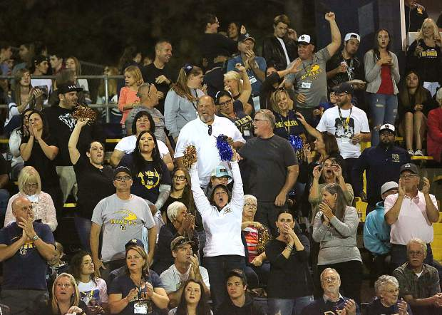 The Nevada Union High School Miner home crowd got to their feet many times during the high scoring bout against the Napa Grizzlies.