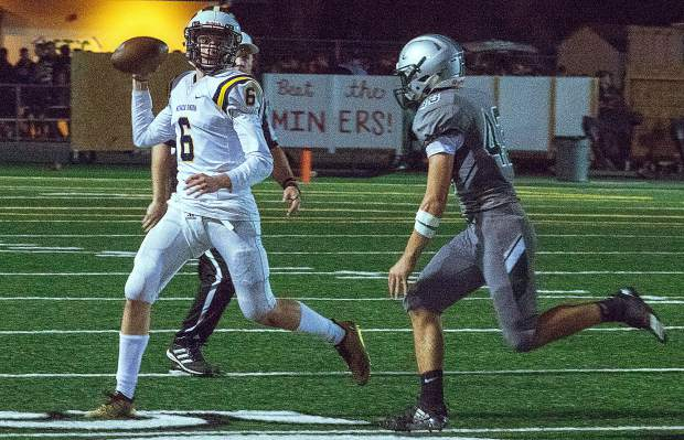 Nevada Union's Parker Heilaman and the rest of Miners will face off with Lincoln in a Foothill Valley League bout tonight.