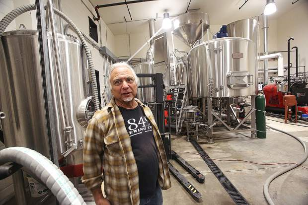1849 Brewing Co. co-owner David Krikorian walks through the brewing space of the new brewery located at 468 Sutton Way in Grass Valley.