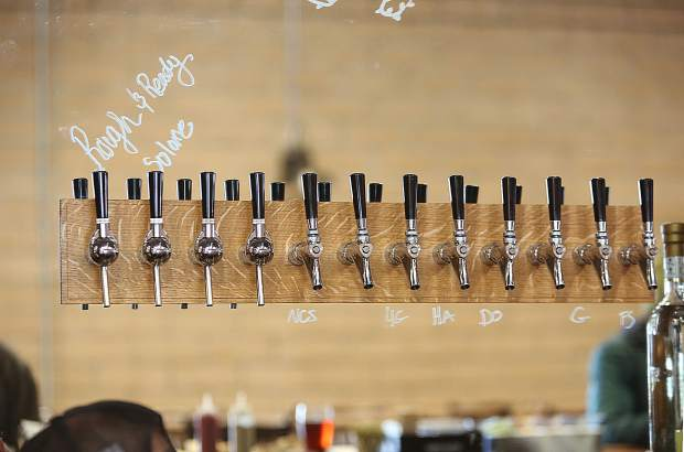 Taps lead straight into 1849 Brewing Co. walk-in fridge.