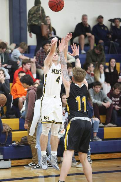 Nevada Union's Ryan Werner scored a game-high 33 points in the Miners 66-64 win over Enterprise in the Nevada Union Invitational Tournament opener Thursday at Albert Ali Gymnasium.