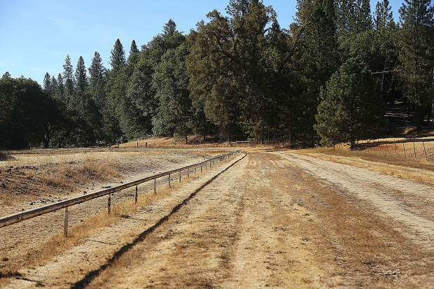 The property of the Diamond F Ranch contains a race track for when Dave and Sandy raised race-quality thoroughbred horses, some of which won races in Australia.