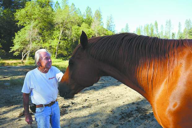 Every morning for more than 30 years, Dave Ferguson of the Diamond F Ranch off of McCourtney Road, wakes up to feed the scores of horses on the ranch. What once was a quarter horse, then a thoroughbred race horse ranch, has now been sold leaving Dave and his wife Sandy looking for a new place to go.