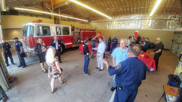 Sierra College's recently completed Fire Apparatus Building was shown to the public during Tuesday's ribbon cutting ceremony.