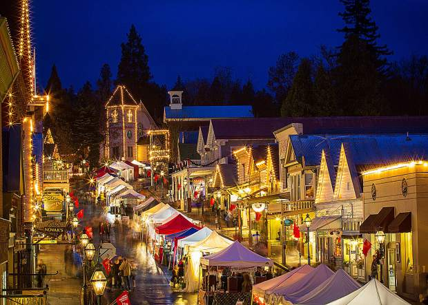 James enjoys photographing the landmarks and events that give Nevada County its character and charm. Here, a shot of Victorian Christmas in Nevada City.
