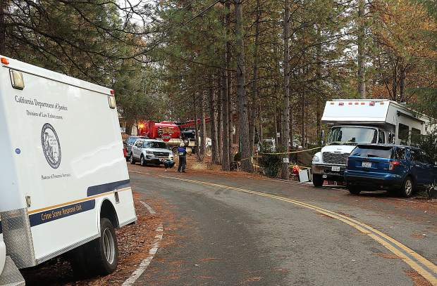 A crime scene truck, a mobile command unit, and a vactor utility truck were just some of the vehicles being used at the Alta Sierra home where an investigation into a missing man continues.