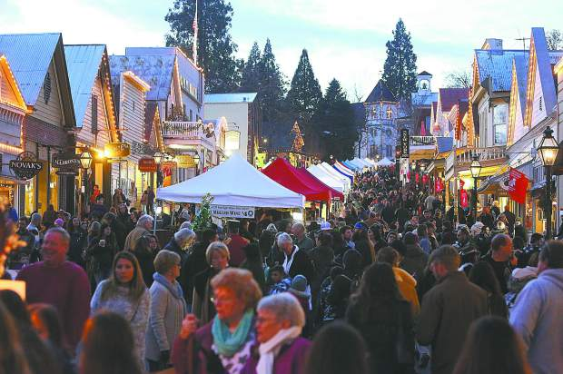 Nevada City held their first Victorian Christmas street faire of the 2018 holiday season Sunday evening, welcoming pleasant weather and large crowds to Broad Street in the city's historic downtown.