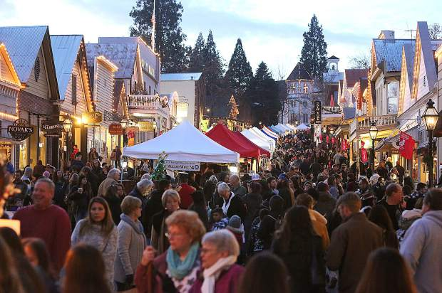 Nevada City held its first Victorian Christmas of the 2018 holiday season Sunday, welcoming pleasant weather and large crowds to Broad Street in the city's historic downtown.