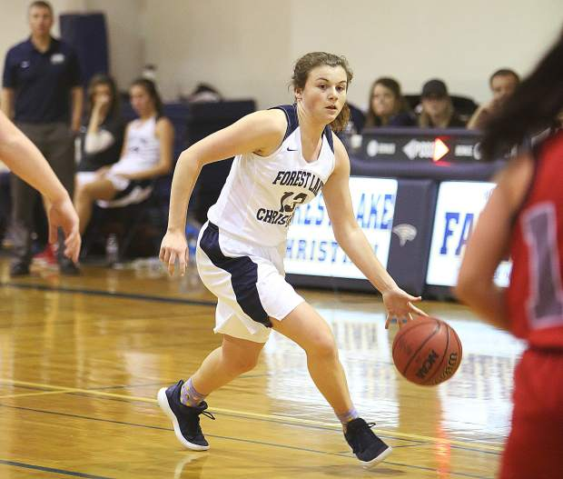 39b905a4f0 Forest Lake Christian guard Ali McDaniel (13) scored a team-high 13 points  in Tuesday night's league win over Victory Christian.