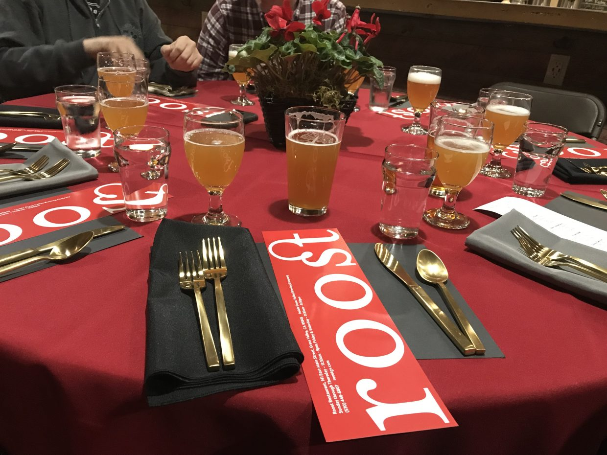 Roost & Grass Valley Brewing Company first beer pairing a resounding success