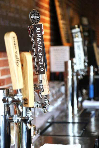 Local and regional ales are ready to be poured from the taps at The Pour House, now open on Main Street in downtown Grass Valley.