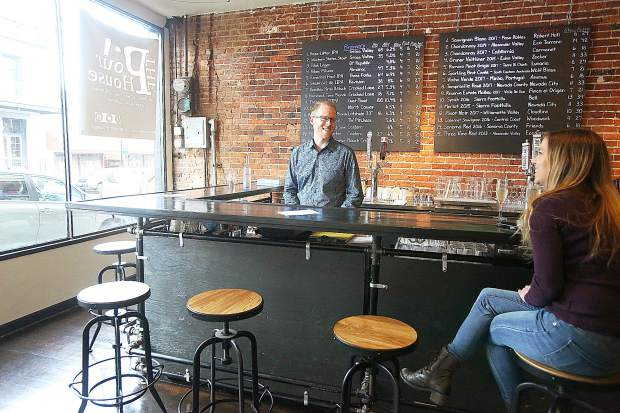 The Pour House is now open on Main Street in downtown Grass Valley featuring local beers, wine and mixed drinks. Bar manager Thomas Hall and co-owner of The Pour House Teresa Thomas share a few laughs while prepping for the evening Friday.