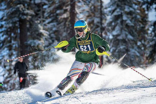 Nevada Union's Dannah Fournier placed ninth at Tuesday's slalom race held at Northstar.