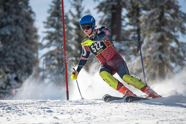 Nevada Union's Ben Arenchild placed fourth in the boys slalom race Tuesday at Northstar.