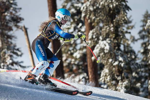 Nevada Union's Zoe Cohen placed fourth in the girls slalom race Tuesday at Northstar.