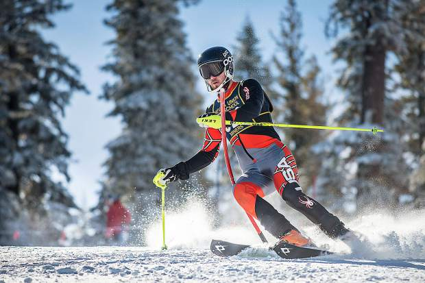 Nevada Union's Jake Schlothauer placed fifth in the boys slalom race Tuesday at Northstar.