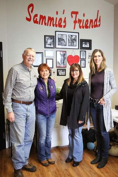 Sammie's Friends' Curt Romander (from left) and Cheryl Wicks are stepping down from running the day to day operations and handing the reigns over to Lizette Taylor and Lorie Hennessey.