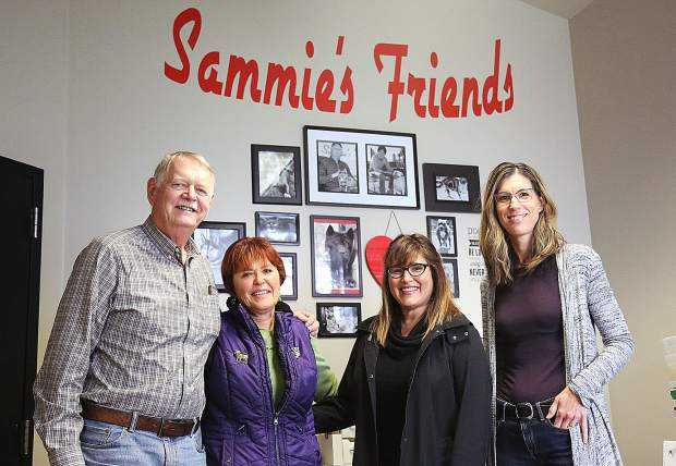 Sammie's Friends' Curt Romander (from left) and Cheryl Wicks are stepping down from running the day-to-day operations and handing the reigns over to Lizette Taylor and Lorie Hennessey.