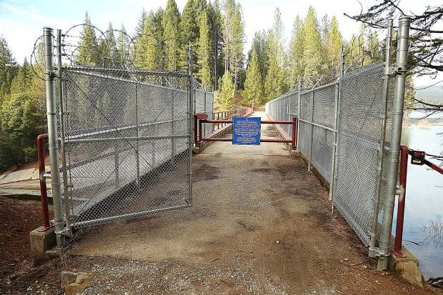 The Scotts Flat Dam bicycle and pedestrian path over the spillway, is open for now though NID is considering other options to prevent people from bypassing the gate when it is closed.