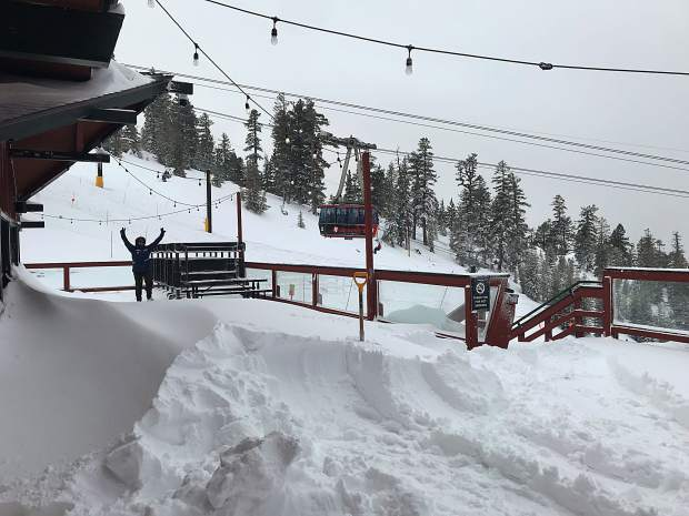 Heavenly Mountain Resort has received 17 inches of snow during the past seven days.