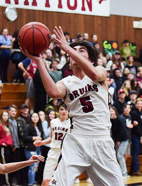 Bear River's Adam Malik notched 14 points during the Bruins' 66-39 first round playoff victory over Calaveras Wednesday night at Jack R. McCroy Gymnasium.