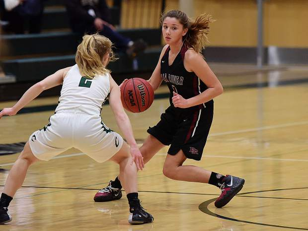 Bear River's Gabi Correlejo runs the Lady Bruins' offense during a playoff loss to Colfax Tuesday.