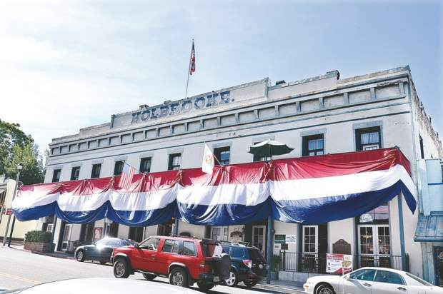The Holbrooke Hotel is ready for the Fourth of July in this archive photo from 2012.